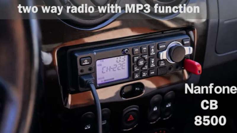 CB that combines mp3, and fm radio, that works on cars existing speakers
