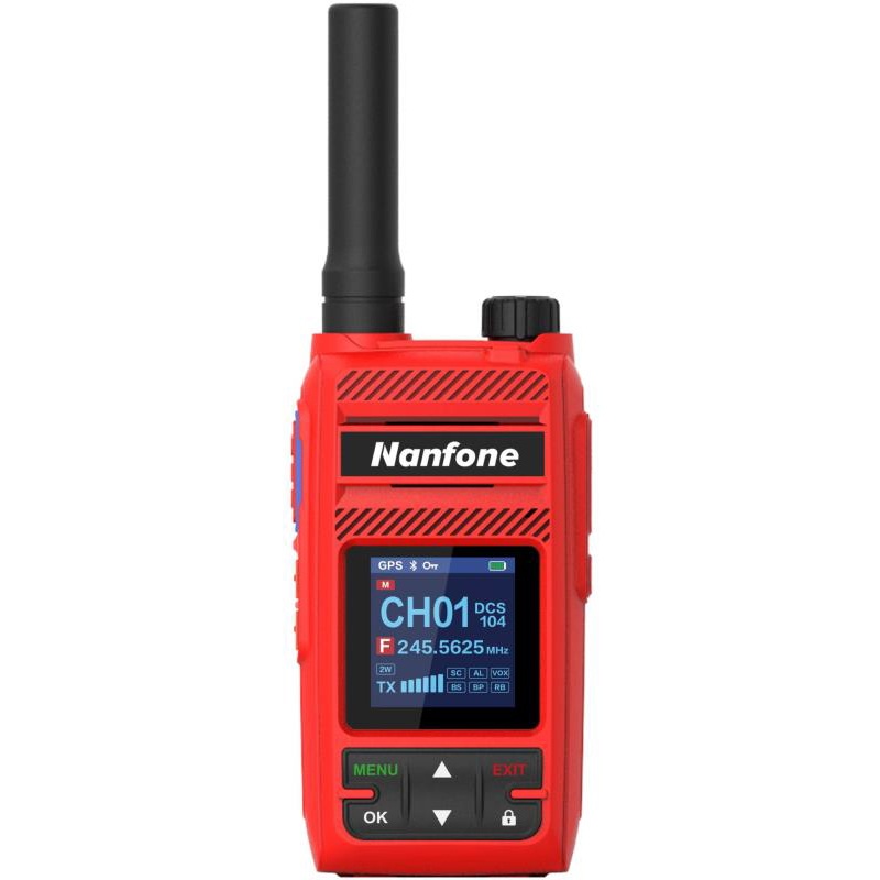 MT-877<br>Red Radio Build In GPS Sharing Location Automatic