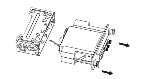 Make it easier to disassemble the DIN frame